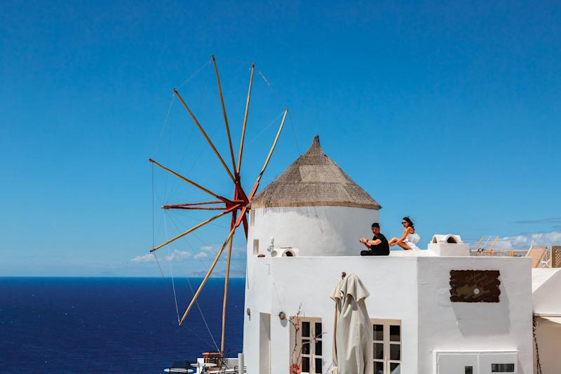 Fake holiday website Cyclades Rentals claimed to offer villas in Santorini: Shutterstock