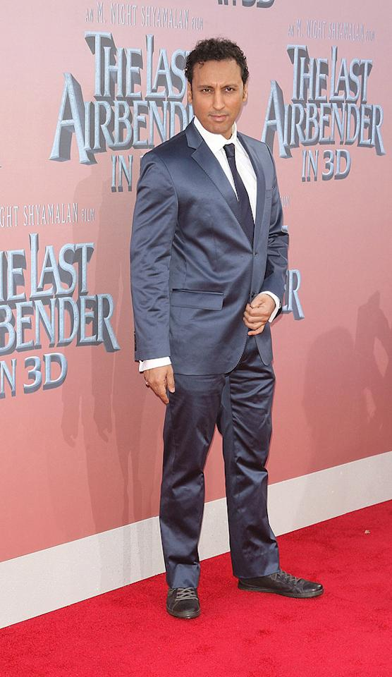 """<a href=""""http://movies.yahoo.com/movie/contributor/1804556409"""">Aasif Mandvi</a> at the New York City premiere of <a href=""""http://movies.yahoo.com/movie/1810071569/info"""">The Last Airbender</a> - 06/30/2010"""