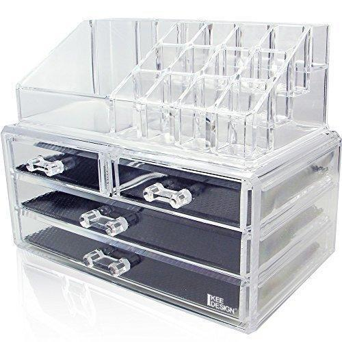 "<h3><strong>Ikee Design Acrylic Jewelry & Cosmetic Storage Display Boxes</strong></h3><br><strong>The Crystal Clear Organizer</strong><br><br>Like your favorite <a href=""https://www.containerstore.com/s/kitchen/the-home-edit-collection/12"" rel=""nofollow noopener"" target=""_blank"" data-ylk=""slk:Container Store"" class=""link rapid-noclick-resp"">Container Store</a> find, these stackable acrylic organizers allow you to customize your storage for your unique needs. (i.e. storing all 20 of your extremely essential red lipsticks...)<br><br><strong>The Hype: </strong>4.6 out of 5 stars and 23,274 reviews on <a href=""https://amzn.to/34v54FI"" rel=""nofollow noopener"" target=""_blank"" data-ylk=""slk:Amazon"" class=""link rapid-noclick-resp"">Amazon</a><br><br><strong>Organization Obsessives Say: </strong>""LOVE this product! It comes in two separate pieces but the top fits perfectly on top of the drawers. It's a great size, and fits allllmost all of my makeup. Great for people who are starting out their makeup collection, but you can really fit a lot of products in the drawers. Fits great on bathroom counters, dressers, or a makeup counter! I definitely would recommend this product. It was carefully wrapped and packaged too."" — Jess Russo, Amazon Reviewer<br><br><strong>Ikee Design</strong> Acrylic Jewelry & Cosmetic Storage Display Boxes, $, available at <a href=""https://www.amazon.com/Ikee-Design-Acrylic-Jewelry-Cosmetic/dp/B00DUJEWDE/ref=sr_1_4"" rel=""nofollow noopener"" target=""_blank"" data-ylk=""slk:Amazon"" class=""link rapid-noclick-resp"">Amazon</a>"