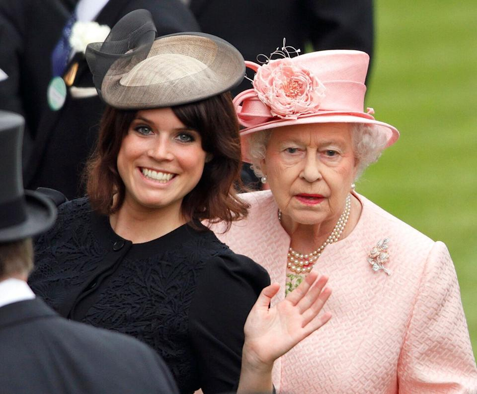 Princess Eugenie of York and Queen Elizabeth II at the Royal Ascot on June 18, 2013. (Photo: Max Mumby/Indigo via Getty Images)