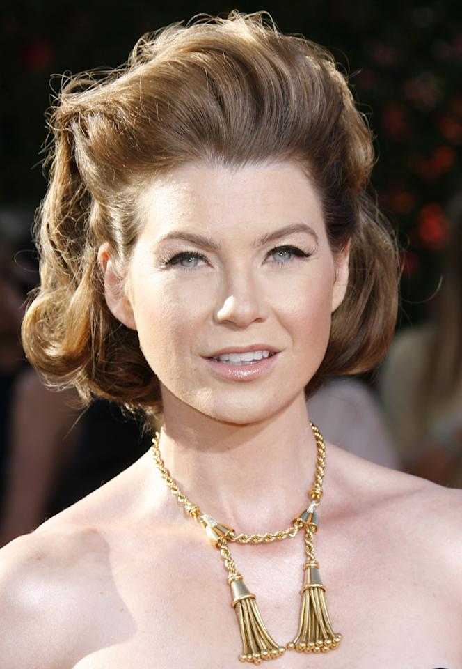LOS ANGELES, CA - SEPTEMBER 16: Actress Ellen Pompeo arrives at the 59th Annual Primetime Emmy Awards held at the Shrine Auditorium on September 16, 2007 in Los Angeles, California. (Photo by Dan MacMedan/WireImage)
