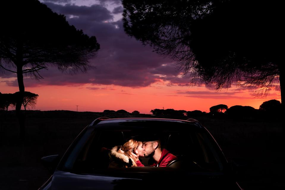 <p>There's nothing quite like sharing a steamy kiss in your car with the one that excites you the most. Take it back to high school by having a little makeout session! This is a simple date idea that will make you both feel like giddy kids again.</p>