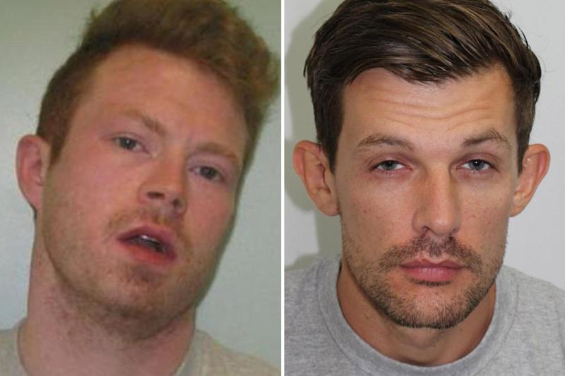 Escape: Matthew Baker (left) and James Whitlock broke out of prison: Metropolitan Police