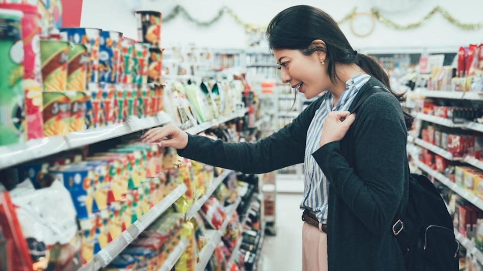 woman shopping in convenience store