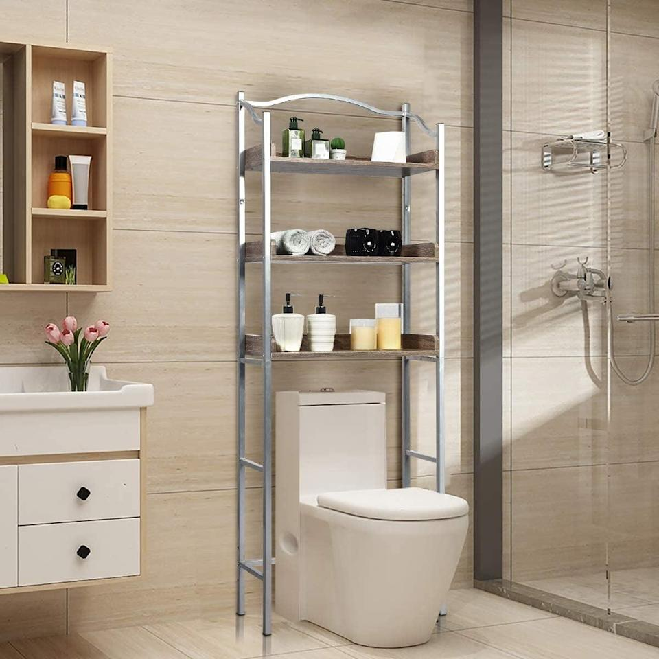 <p>If you're working with limited wall space, take advantage of the room around your toilet with the <span>Giantex Over-the-Toilet Spacesaver</span> ($65). Its sleek design fits any bathroom style, and there's tons of storage space. Amazon customers give this shelf a near-perfect score in the assembly and value categories.</p>