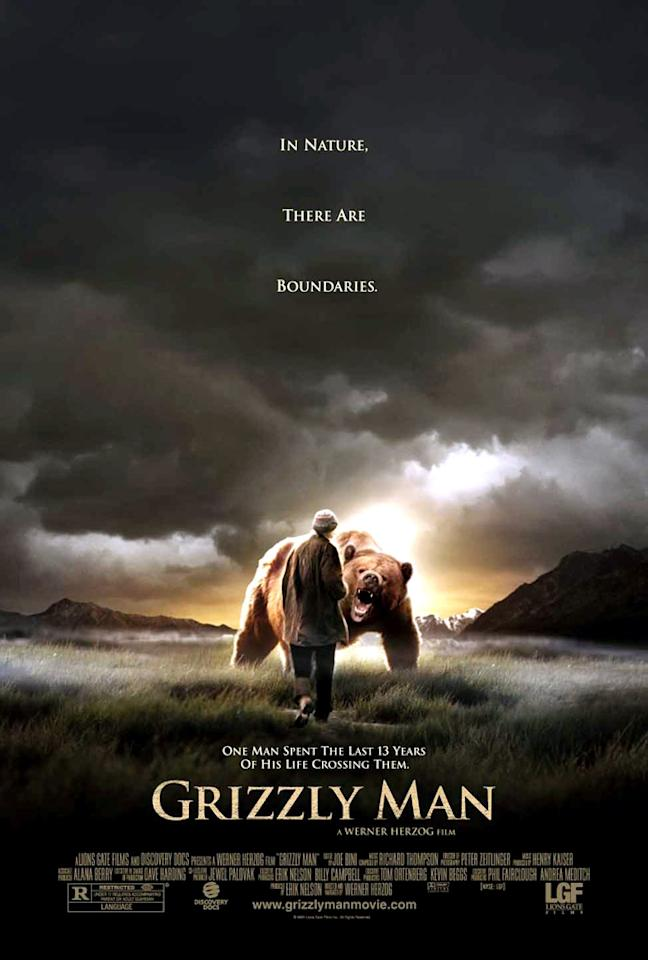 """""""Grizzly Man"""" (2005), directed by Werner Herzog """"I remember watching this film in a theater when it first came out and feeling absolutely floored by it. It's tragic, beautiful, and masterfully done. Herzog is able to insert himself into this film without overshadowing Timothy Treadwell's story."""""""
