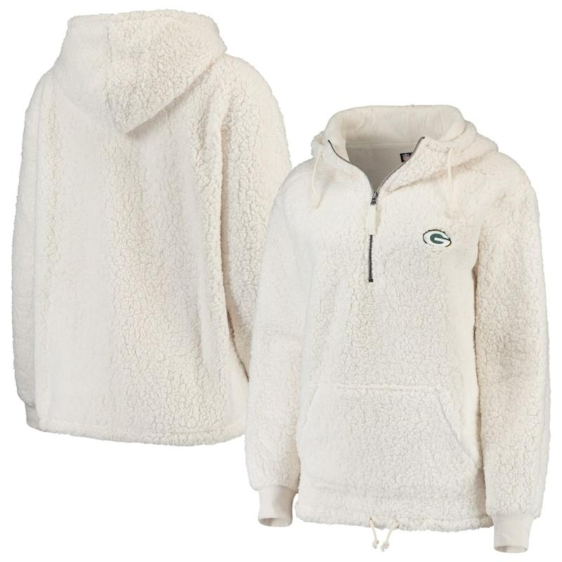 Women's Packers Sherpa Quarter-Zip Hoodie
