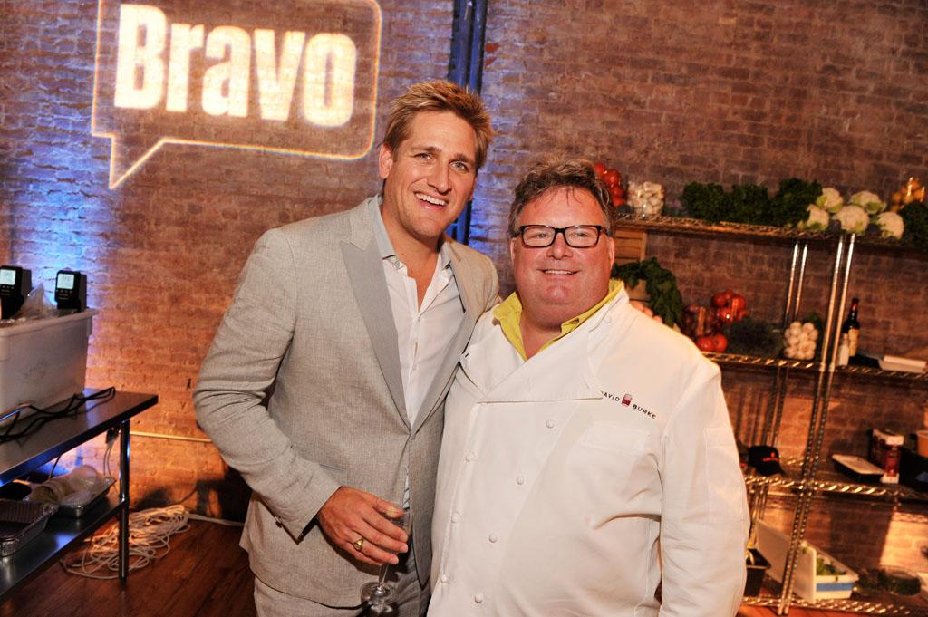 "Curtis Stone and David Burke attend the ""Top Chef Masters"" Season 5 Premiere Tasting Event presented by Chase Sapphire Preferred at 82 Mercer on Tuesday, July 16, 2013 in New York."