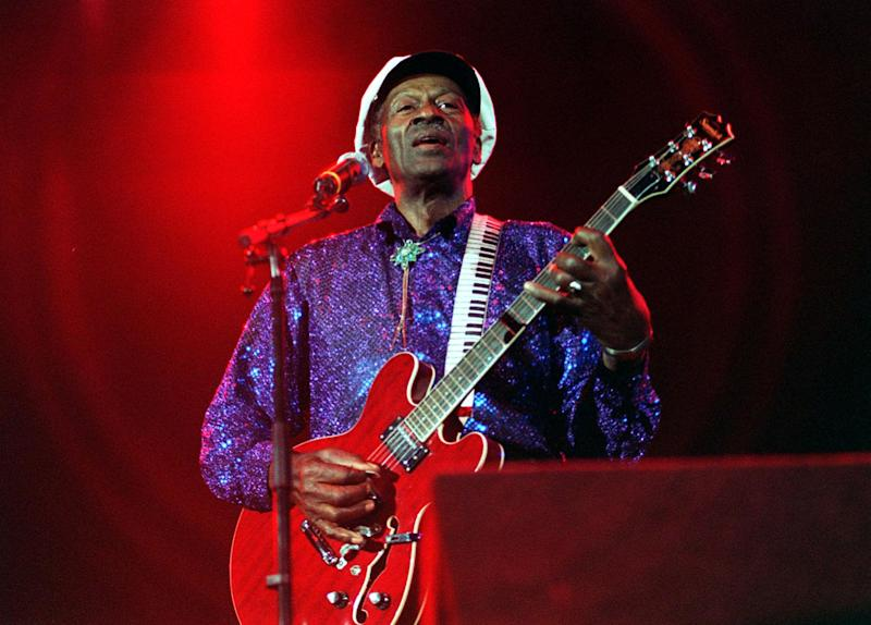 Icon: Chuck Berry died after medics were unable top revive him at his home in Missouri: PA