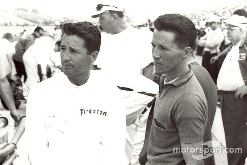 "Mario and Aldo Andretti at Indy in 1965, the year in which Mario won Rookie of the Year and finished third.<span class=""copyright"">Motorsport.com</span>"
