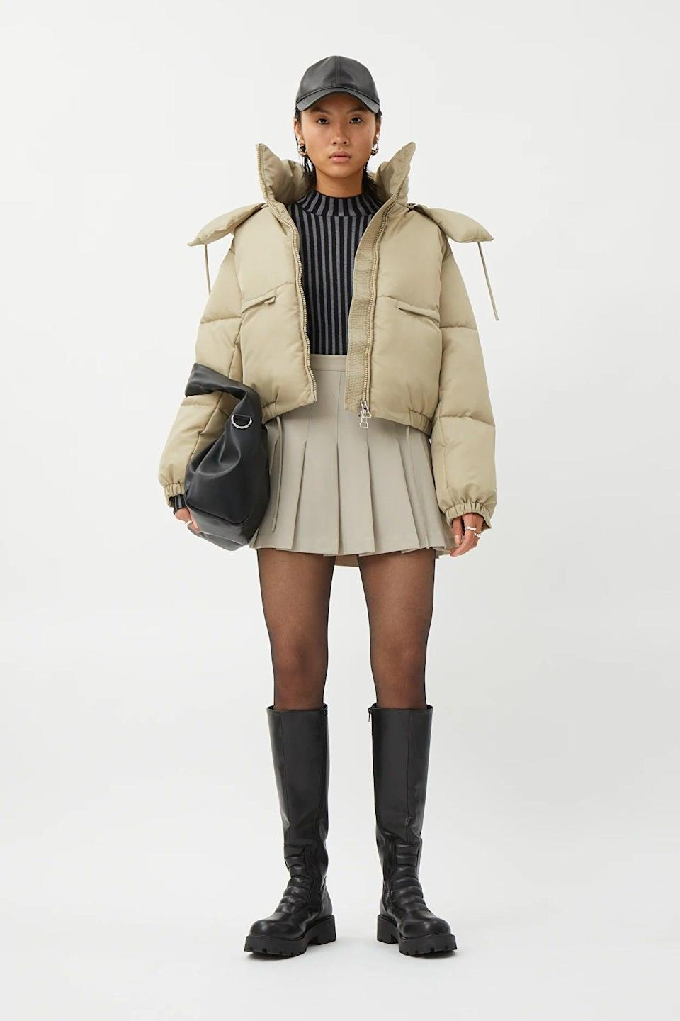 """<br><br><strong>Weekday</strong> Hanna Short Puffer Jacket, $, available at <a href=""""https://www.weekday.com/en_gbp/women/jackets-coats/product.hanna-short-puffer-jacket-beige.0961244001.html"""" rel=""""nofollow noopener"""" target=""""_blank"""" data-ylk=""""slk:Weekday"""" class=""""link rapid-noclick-resp"""">Weekday</a>"""