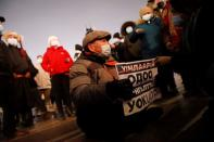 Protest against the government's handling on the coronavirus disease (COVID-19) in Ulaanbaatar