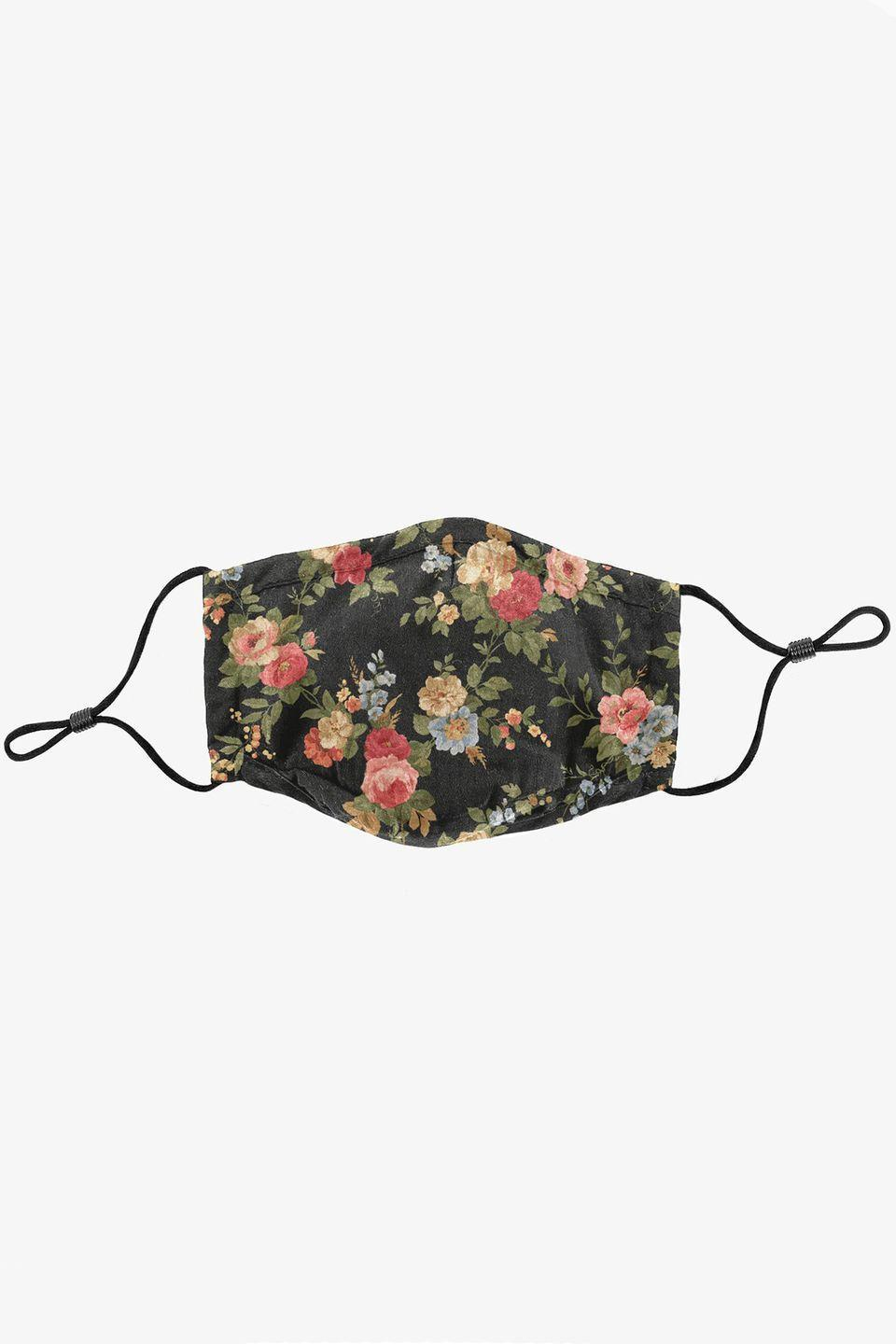 """<p><a class=""""link rapid-noclick-resp"""" href=""""https://profoundco.com/collections/masks/products/triple-layered-protective-black-floral-print-face-mask"""" rel=""""nofollow noopener"""" target=""""_blank"""" data-ylk=""""slk:SHOP NOW"""">SHOP NOW</a></p><p>With each Profound mask sale, a portion of proceeds will be donated to the International Rescue Organisation, which works to assist Refugee families in overpopulated areas. Further donations to funds that assist healthcare workers in local areas of New York and New Jersey will be donated, as well as a portion of proceeds being donated towards factory facilities that opened its doors for the production of these masks, as sewers, pattern makers and workers that continue to put themselves at risk every day. <br></p><p>£22, <a href=""""https://profoundco.com/collections/masks/products/triple-layered-protective-black-floral-print-face-mask"""" rel=""""nofollow noopener"""" target=""""_blank"""" data-ylk=""""slk:Profound"""" class=""""link rapid-noclick-resp"""">Profound </a></p>"""