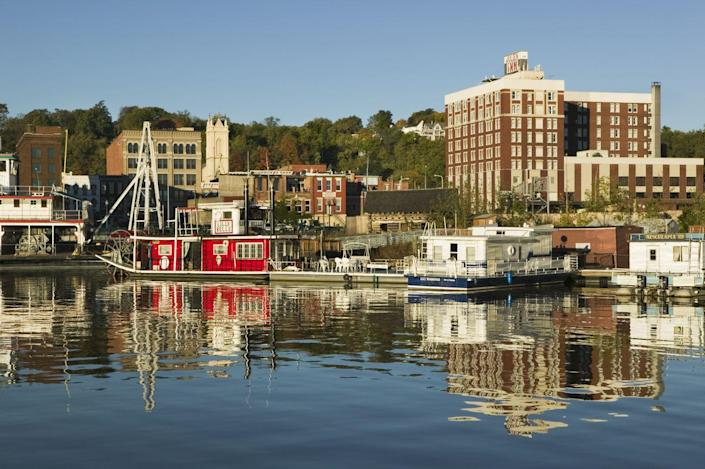 """<p><strong>Established in:</strong> 1837</p><p>Dubuque is one of the <a href=""""https://www.cityofdubuque.org/1060/History"""" rel=""""nofollow noopener"""" target=""""_blank"""" data-ylk=""""slk:oldest settlements"""" class=""""link rapid-noclick-resp"""">oldest settlements</a> west of the Mississippi River and was founded by French-Canadian fur trader Julien Dubuque. He first arrived in 1785, when the area was being occupied by the Mesquakie tribe, who he ended up working closely with. <br></p>"""