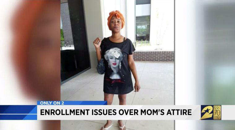 Joselyn Lewis says that she wasn't allowed on school property because of what she was wearing. (Photo: KPRC)
