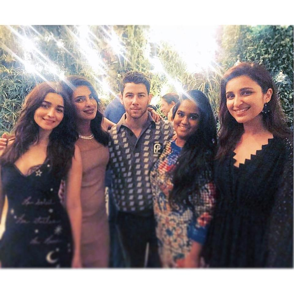 <p>The couple followed-up their engagement ceremony with a gorgeous after-party in Mumbai on Saturday. </p>