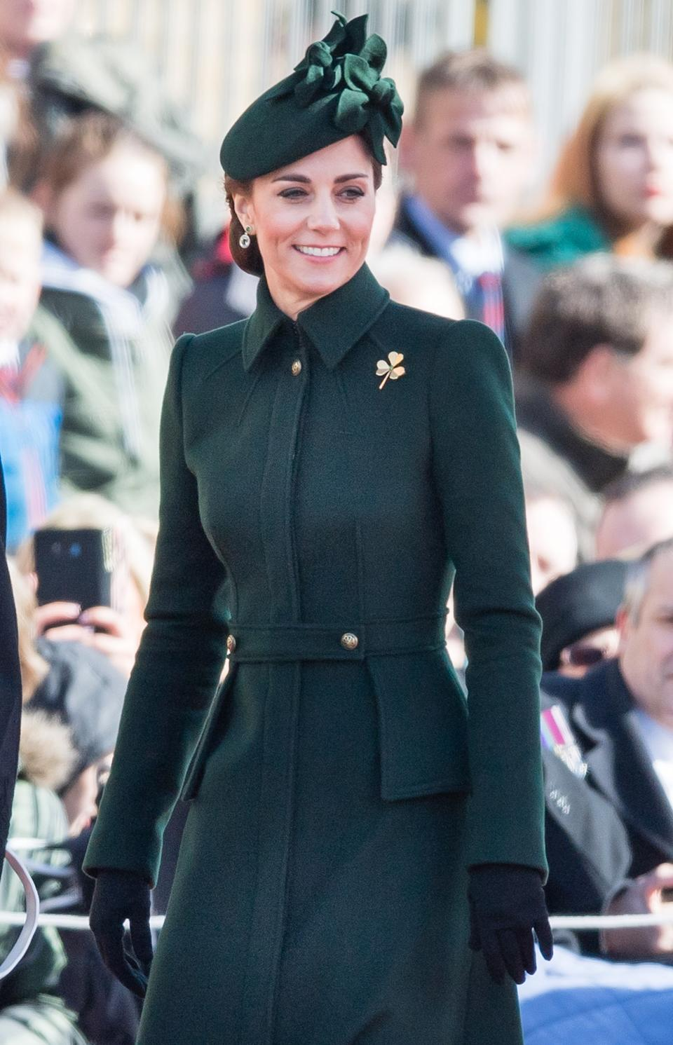 """<h1 class=""""title"""">The Duke And Duchess Of Cambridge Attend The Irish Guards St Patrick's Day Parade</h1><cite class=""""credit"""">Samir Hussein/Samir Hussein/WireImage</cite>"""