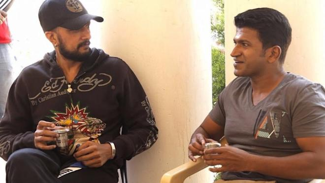 Sudeep with Puneeth Rajkumar