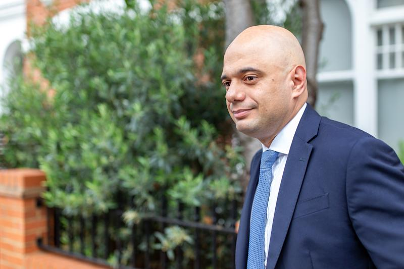 Conservative Party leadership contender Sajid Javid leaves his London home on Monday (Picture: Getty)