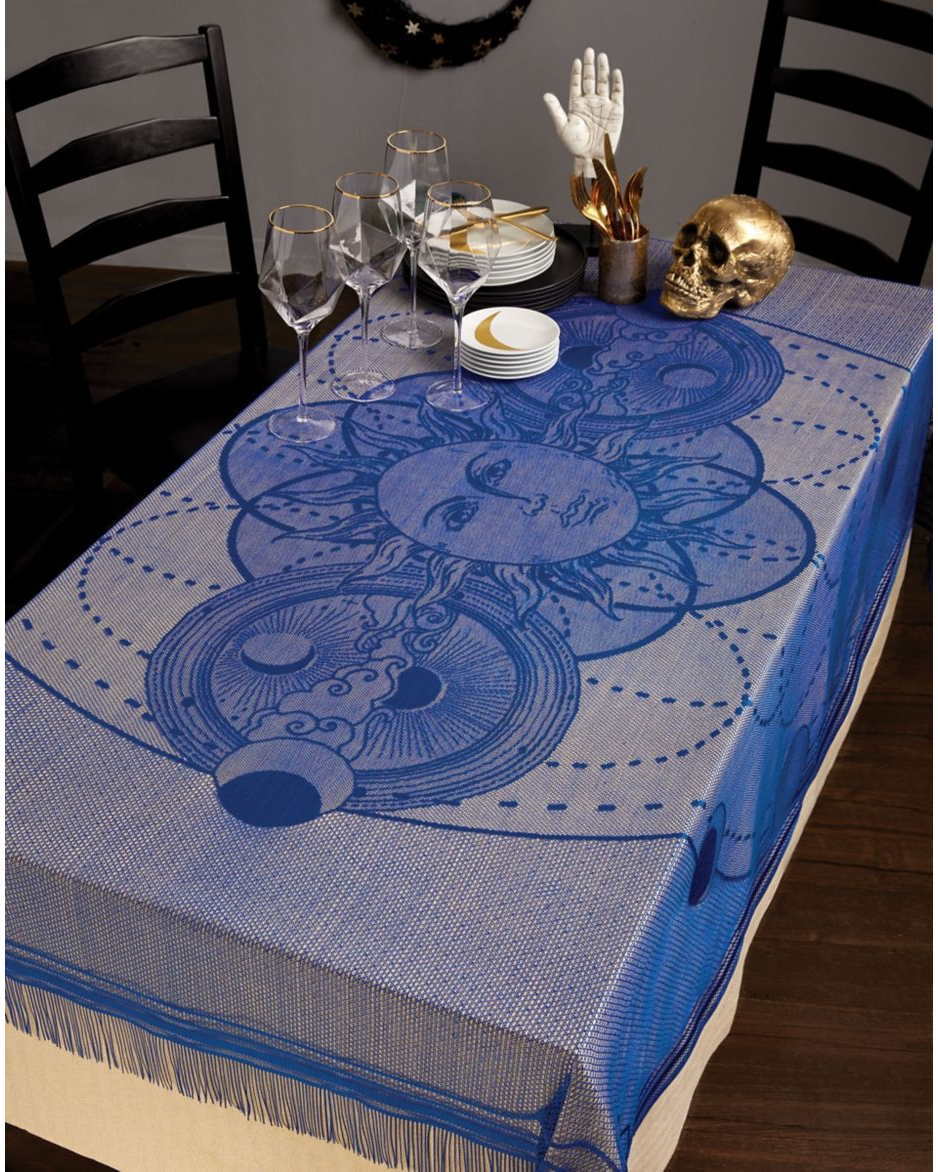 Set the table for your Halloween feast with this witchy table cloth.