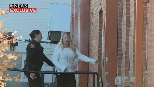 PHOTO: In this screen grab from an exclusive ABC News video, Krystal Lee arrives at the courthouse in Cripple Creek, CO. (ABC News)