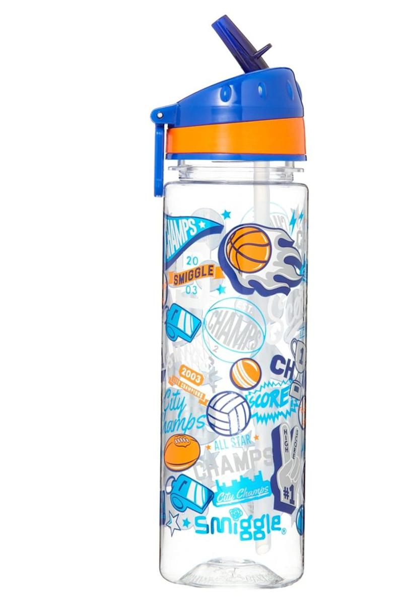 "Practical and eco-friendly, a reusable water bottle is a useful thing for any kid to own. Get it <a href=""https://www.thebay.com/smiggle-kids-explore-drink-bottle/product/0600091047640"" target=""_blank"" rel=""noopener noreferrer"">at Hudson's Bay</a> for $19."