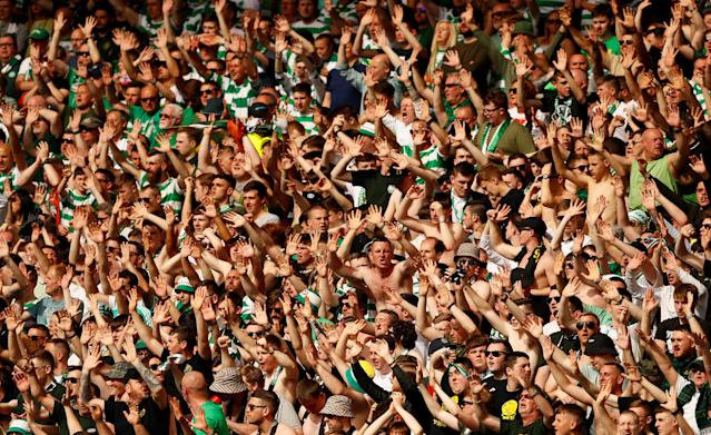 Soccer Football - Scottish Cup Final - Celtic vs Motherwell - Hampden Park, Glasgow, Britain - May 19, 2018 Celtic fans during the match Action Images via Reuters/Jason Cairnduff