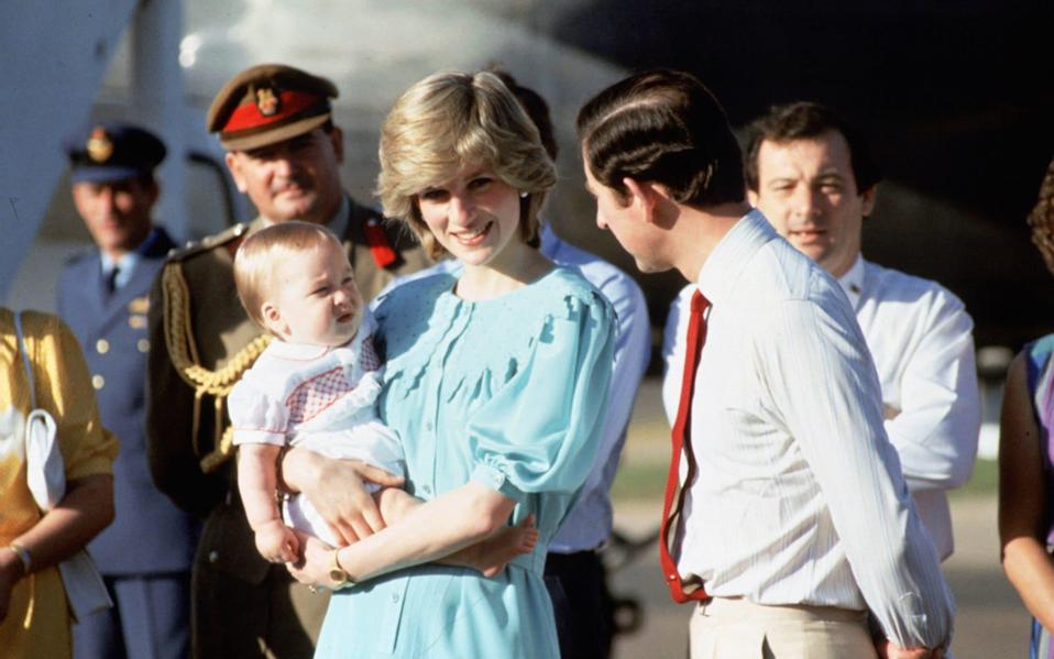 Princess Diana and Prince Charles with Prince William, in Australia, March 1983 - Getty