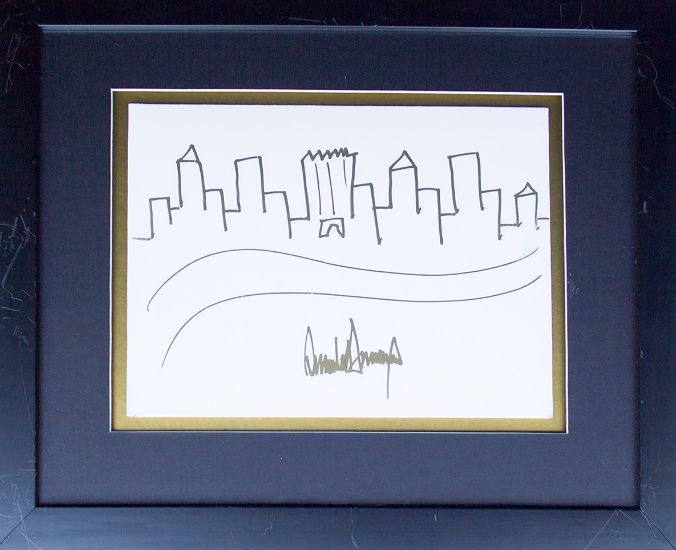 President Trump sketch of NY skyline up for auction