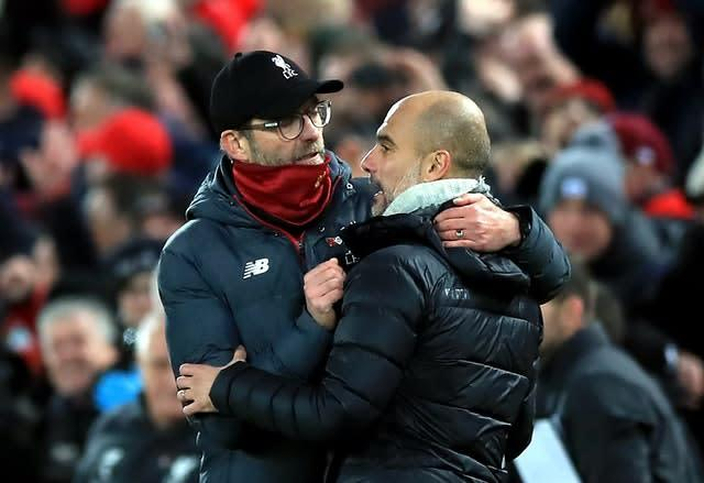 Jurgen Klopp got the better of Pep Guardiola this season (Peter Byrne/PA)