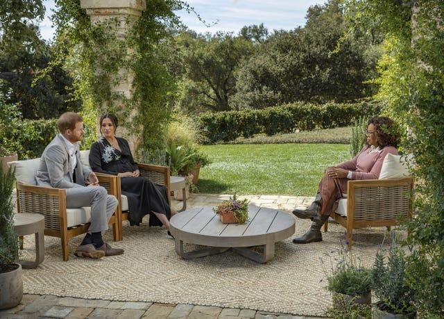 The Duke and Duchess of Sussex during their interview