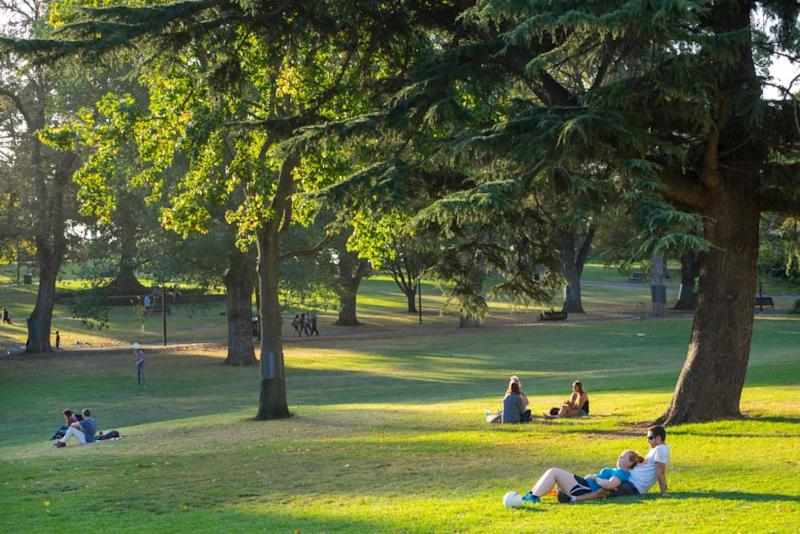 Flagstaff Gardens in Melbourne – the city's oldest public garden – prior to Covid-19