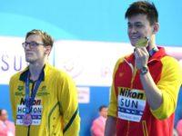 Aussie swimmer Mack Horton's protest against Chinese rival and accused drug cheat Sun Yang could get super awkward for Gina Rinehart