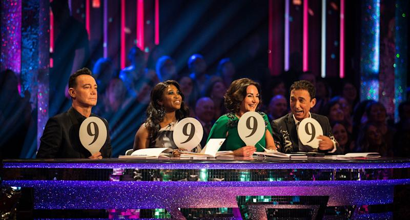 James criticised the Strictly judges' marking (Photo: BBC)