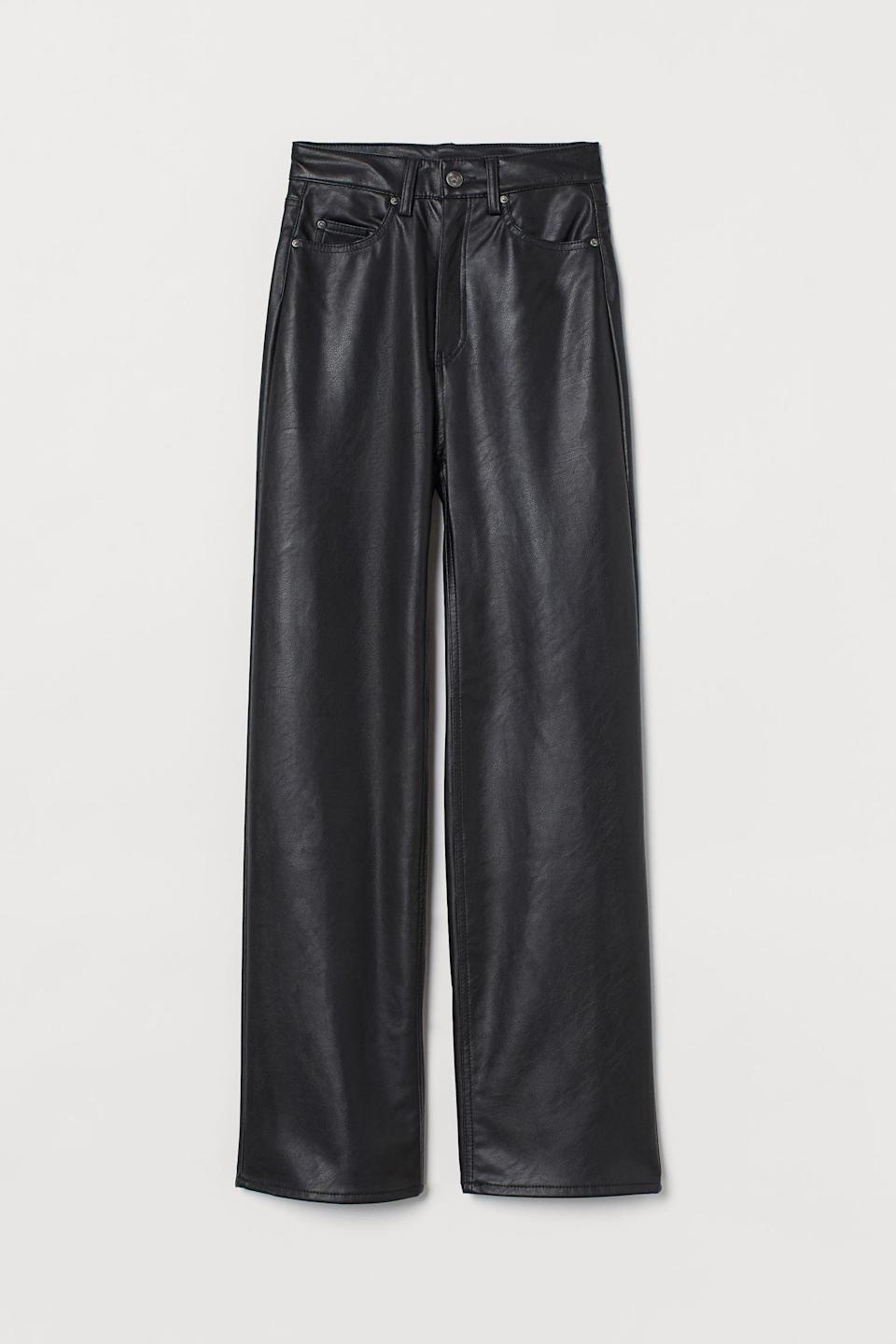<p>These <span>Faux Leather Pants</span> ($40) will pair nicely with a knit cardigan or a cool tee and shacket.</p>