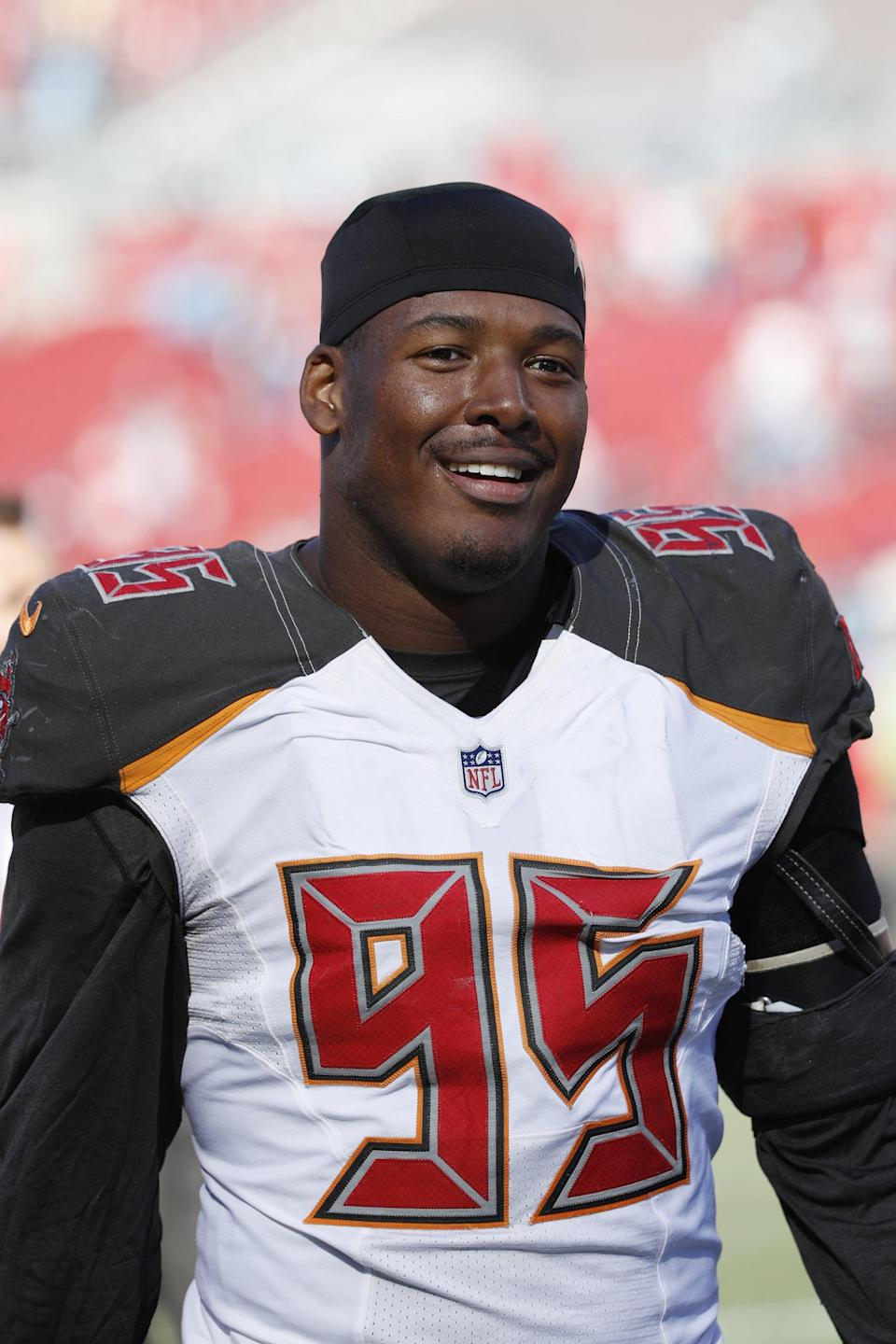 """<p>Football player Ryan Russell, who played for the Tampa Bay Buccanneers and the Dallas Cowboys, became the first openly bisexual NFL player when he came out in 2019. </p> <p>""""In nobody's worlds should being careful mean not being yourself,"""" Russell wrote in an essay for ESPN. The career you choose shouldn't dictate the parts of yourself that you embrace."""" He went on to talk address the NFL's potential for embracing different sexualities, writing, """"I can tell you from experience that as long as a teammate contributes to success on the field and in the locker room, NFL players aren't concerned about who their defensive linemen date . . . The NFL is a multibillion-dollar entertainment entity with the power to create working conditions that allow LGBTQ people to perform their jobs like everyone else. . . There are a lot of problems in the world, and a lot of issues facing the NFL. And I can say with confidence that LGBTQ players having the comfort to be themselves, date who they want, share parts of their life with friends and teammates will not rank among those issues.""""</p>"""