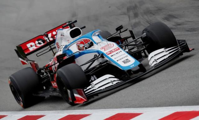 FILE PHOTO: Williams' George Russell in action during Formula One pre-season testing