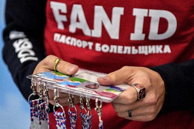 Moscow has implemented a Fan ID system that exempts visiting football fans from Russia's strict visa system and allows them to move freely between host cities for the World Cup (AFP Photo/Mladen ANTONOV)
