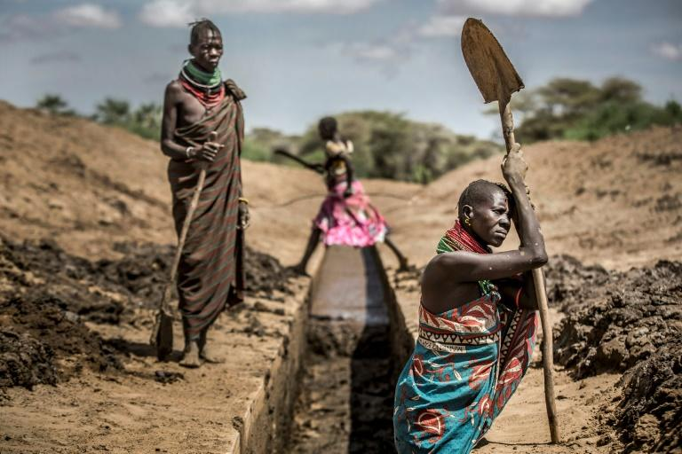 Drought, such as that gripping Turkana County in Kenya, has become more frequent because of global warming (AFP Photo/Luis TATO)