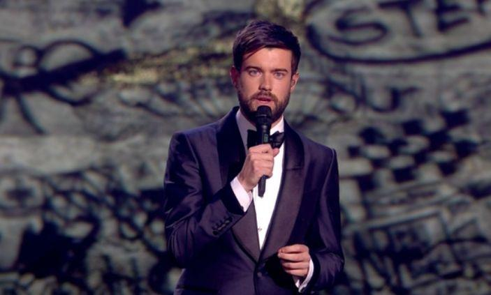 Jack Whitehall paid tribute to Caroline Flack at the Brits (Photo: ITV)