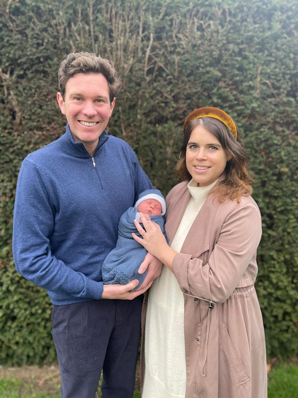 The couple shared a picture with their new arrival on Saturday morning. (Princess Eugenie and Mr Jack Brooksbank)