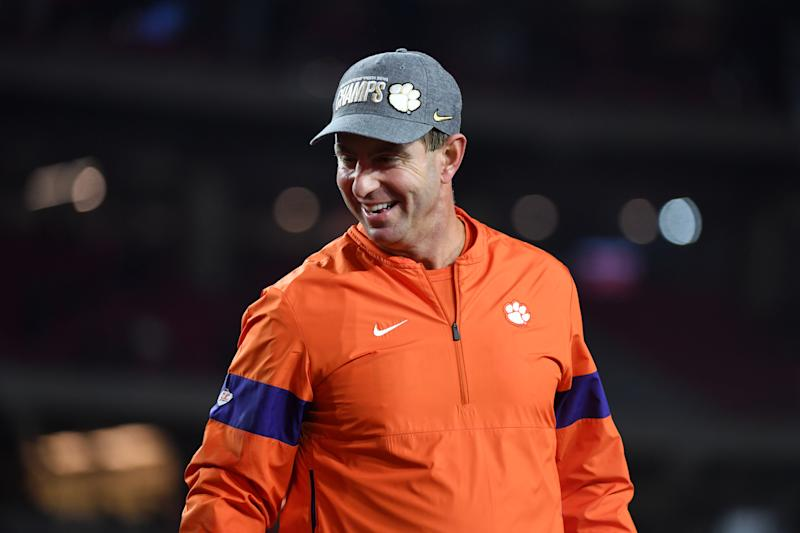 Dabo Swinney made a guest appearance on TikTok. (Norm Hall/Getty Images)