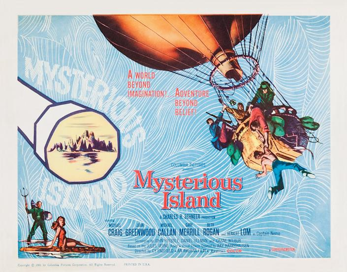 Mysterious Island, poster, US poster, 1961. (Photo by LMPC via Getty Images)