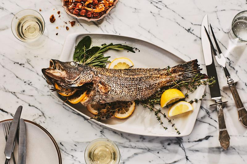 Roasted fish: So pretty! And pretty complicated.