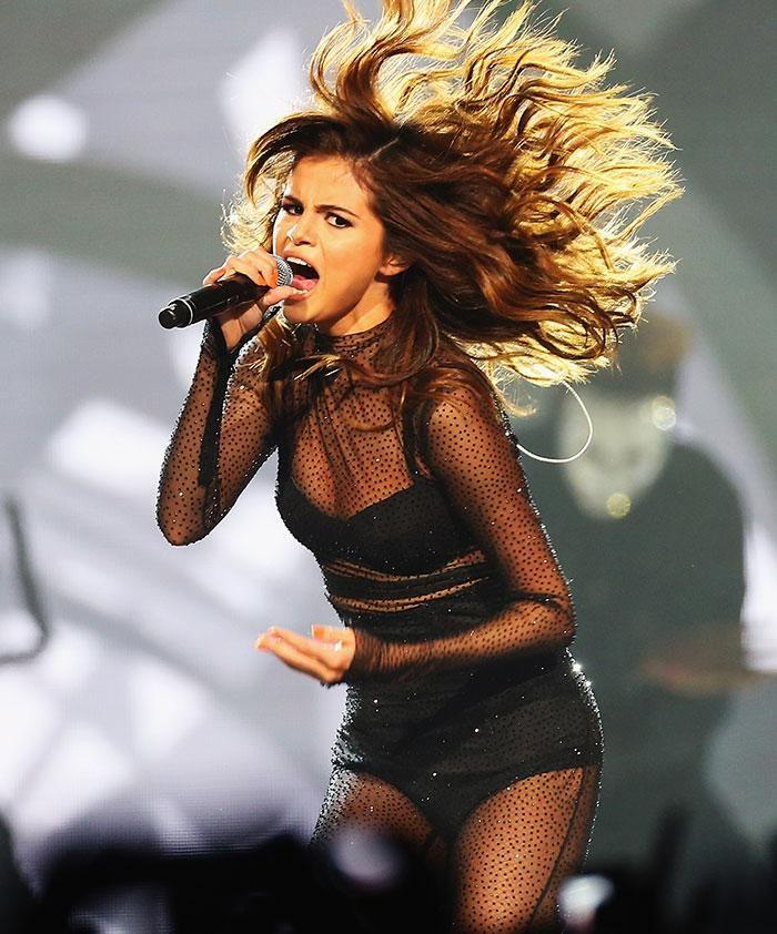Selena Gomez on stage. Source: Getty Images.