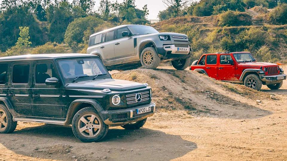 Jeep Wrangler Duels Mercedes G Class New Defender In Off Road Test
