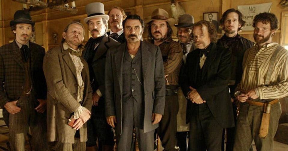 """<p><strong>Original run:</strong> 2004-2006, HBO<br><strong>Reboot status:</strong> Fans have been teased with news of a potential revival for this critically adored, foul-mouthed western since August 2015. It seems that the two-hour<em> Deadwood</em> movie is inching closer to reality: In July, an HBO exec revealed that <a rel=""""nofollow"""" href=""""https://www.yahoo.com/tv/deadwood-movie-update-hbo-exec-praises-david-milchs-terrific-script-193641260.html"""" data-ylk=""""slk:creator David Milch had turned in a """"terrific"""" script;outcm:mb_qualified_link;_E:mb_qualified_link;ct:story;"""" class=""""link rapid-noclick-resp yahoo-link"""">creator David Milch had turned in a """"terrific"""" script</a> — but filming has yet to commence. <br>(Photo: HBO) </p>"""