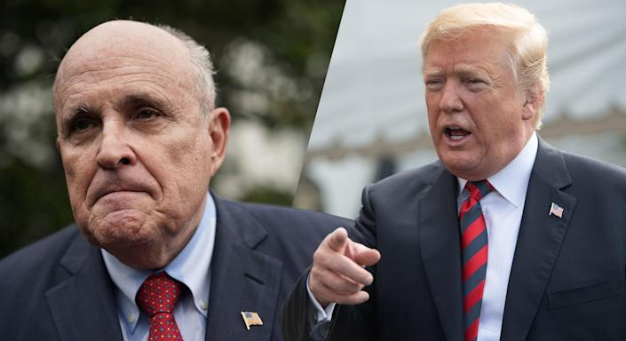 Rudy Giuliani and Donald Trump (Photos: Alex Wong/Getty Images, Nicholas Kamm/AFP/Getty Images)