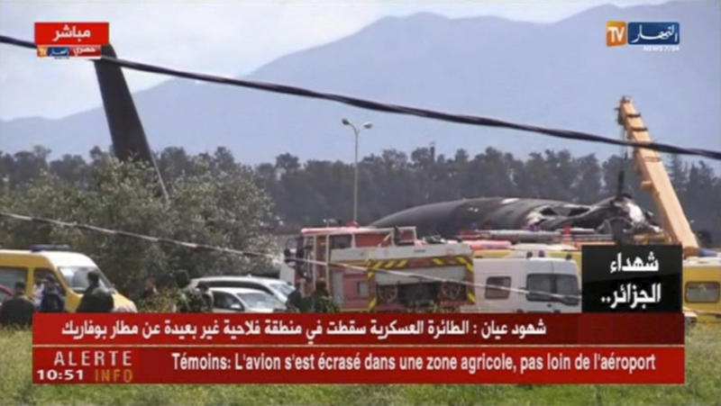 Algerian radio says over 100 dead in plane crash