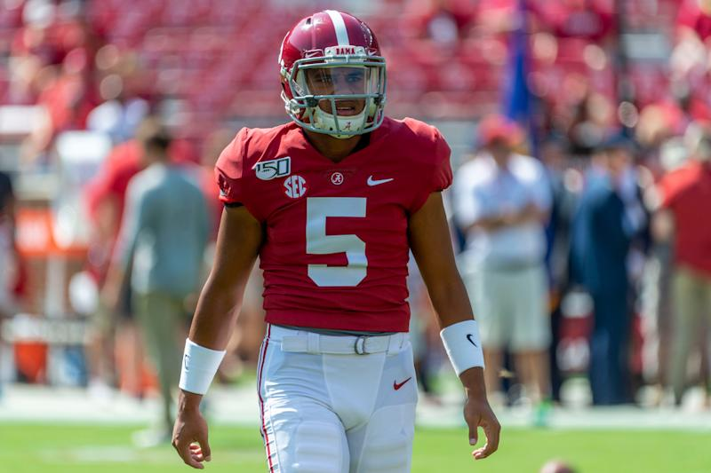 Taulia Tagovailoa left Tuscaloosa, where his brother once starred for Alabama, to join the Terrapins in Maryland.